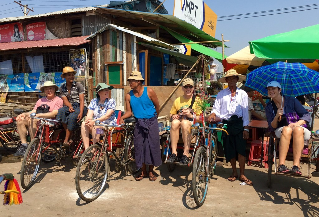 Photo with our trishaw drivers.